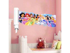 detska samolepka na stenu samolepiaca tapeta dekoracna nalepka disney princezne 2 nahlad stylovydomov