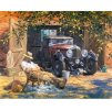 namaluj si obraz malovanie podla cisiel art painting chlapik s autom stylovydomov