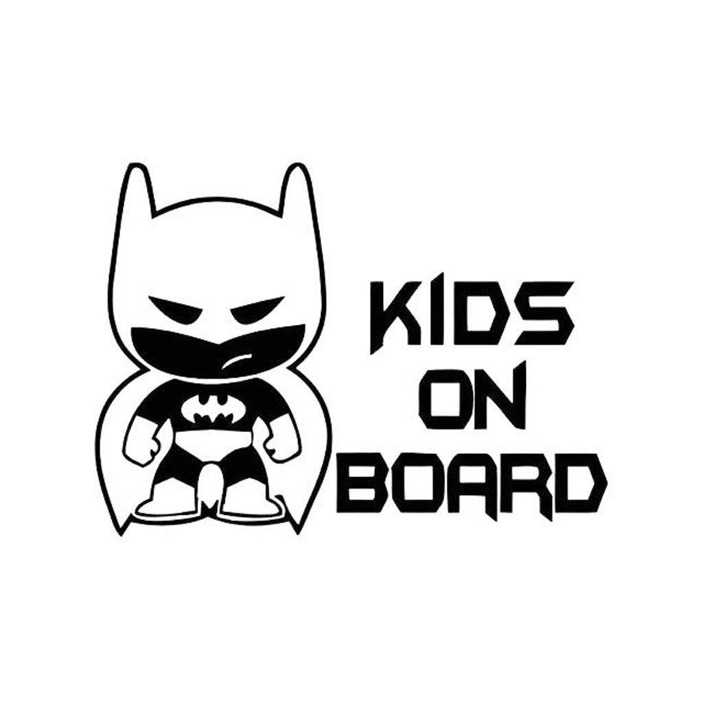 samolepka na auto detska nalepka batman kids on board deti v aute cierna nahlad stylovydomov