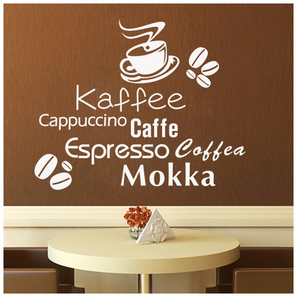samolepiaca tapeta dekoracna samolepka na stenu vinylova nalepka kava biela dizajn dekoracia nahlad stylovydomov