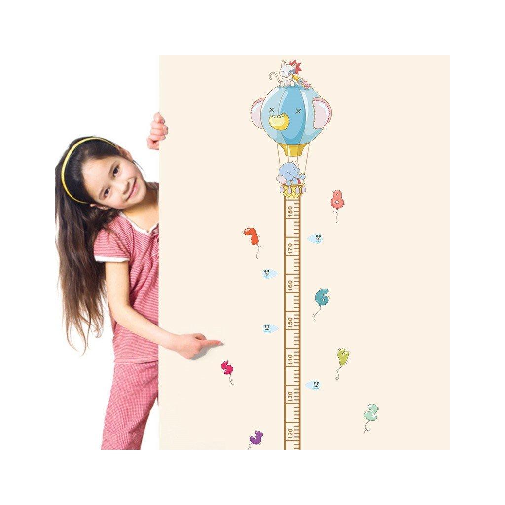 detska samolepka na stenu samolepiaca tapeta dekoracna nalepka pre deti detsky meter balony slon macicka nahlad stylovydomov