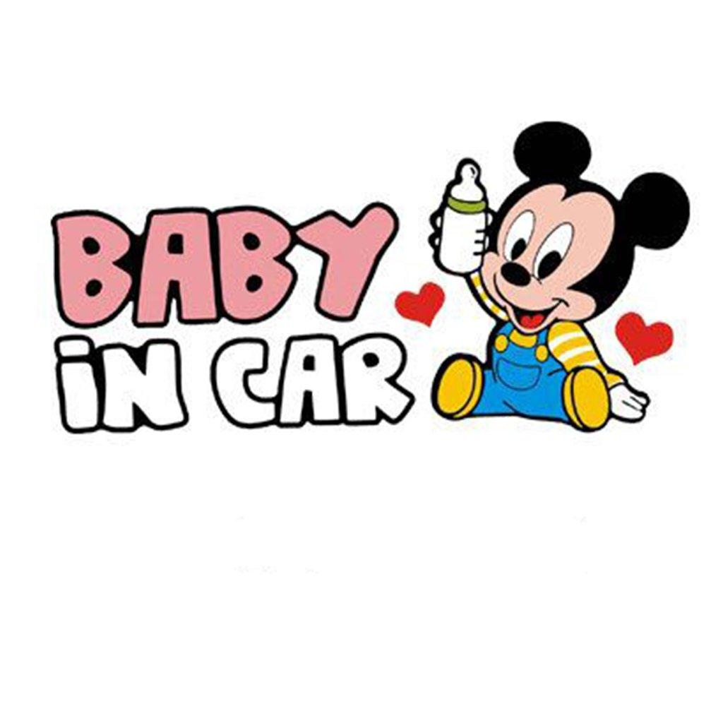 samolepka na auto detska nalepka mickey mouse baby in car dieta v aute čierna nahlad stylovydomov