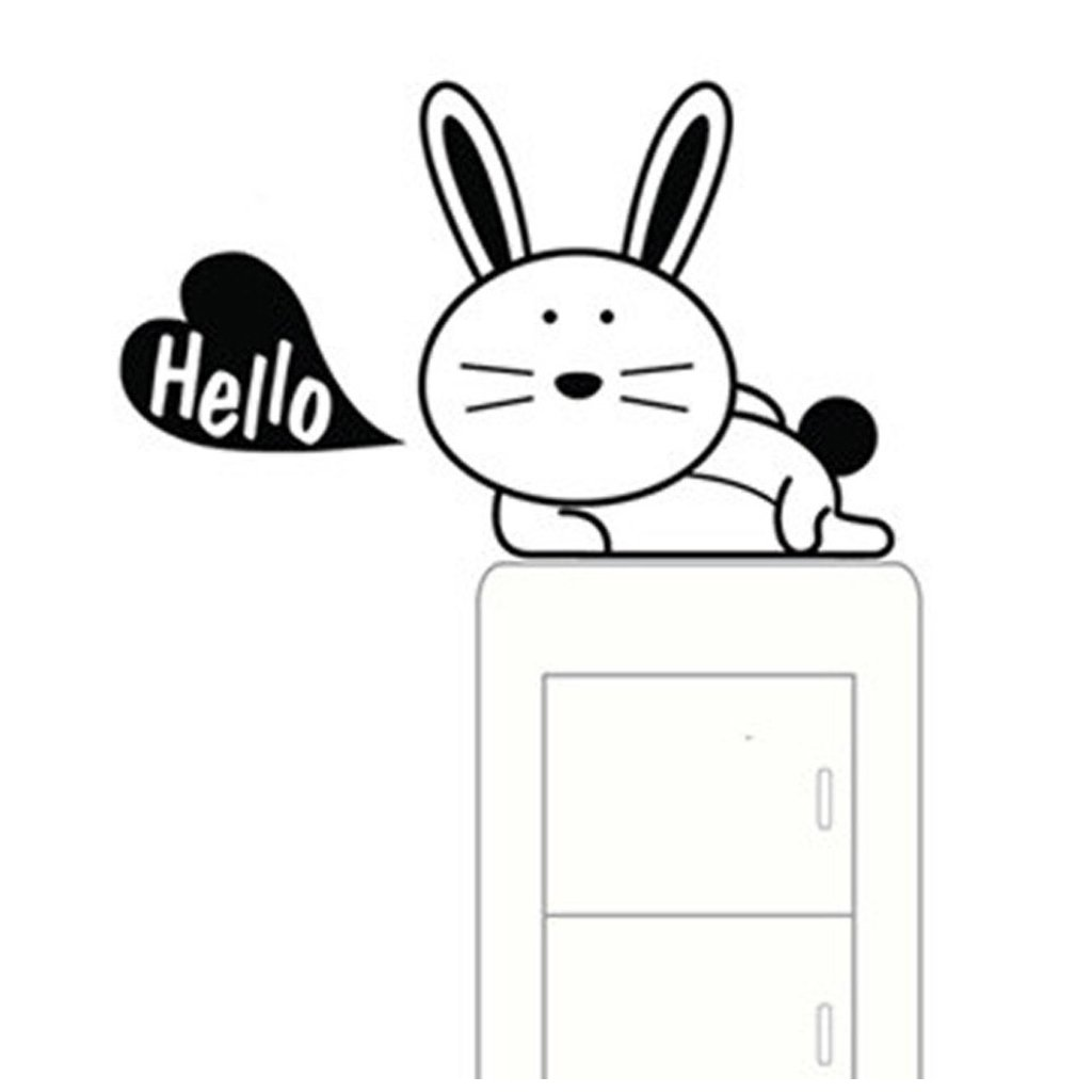 samolepka na vypinac pre deti detska nalepka zajac zajacik hallo dekoracia nahlad stylovydomov
