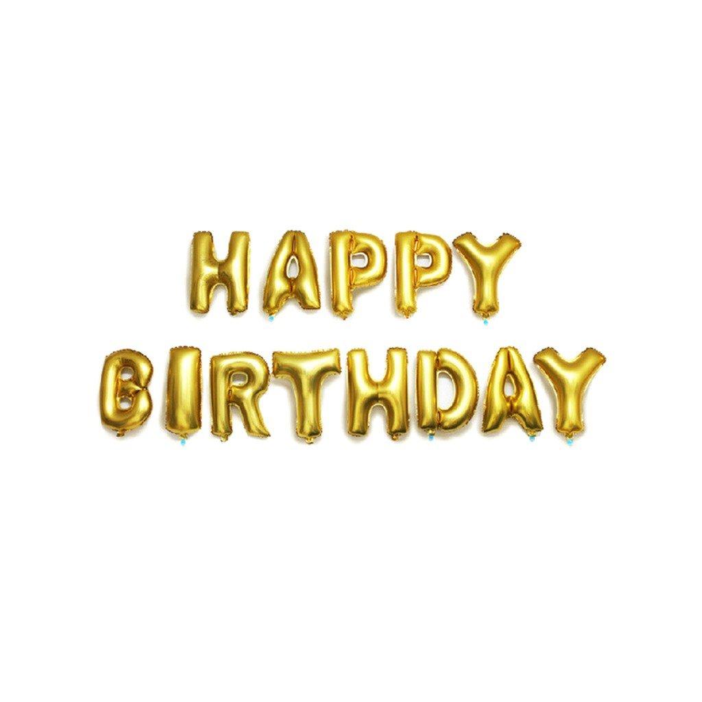 "Arany felirat lufi ""Happy Birthday"" 37,5 cm"