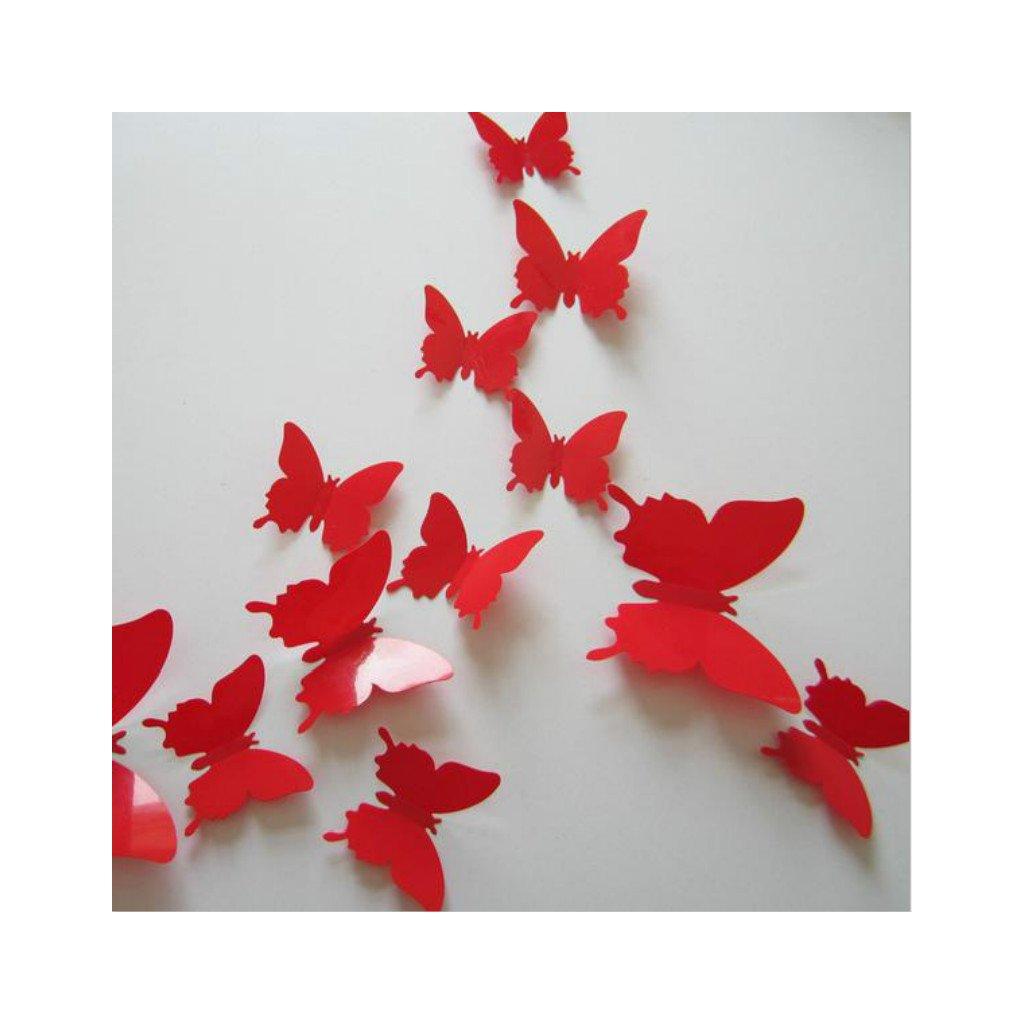 samolepiaca tapeta dekoracna samolepka na stenu nalepka motyle plastove cervene interierovy dizajn nahlad stylovydomov