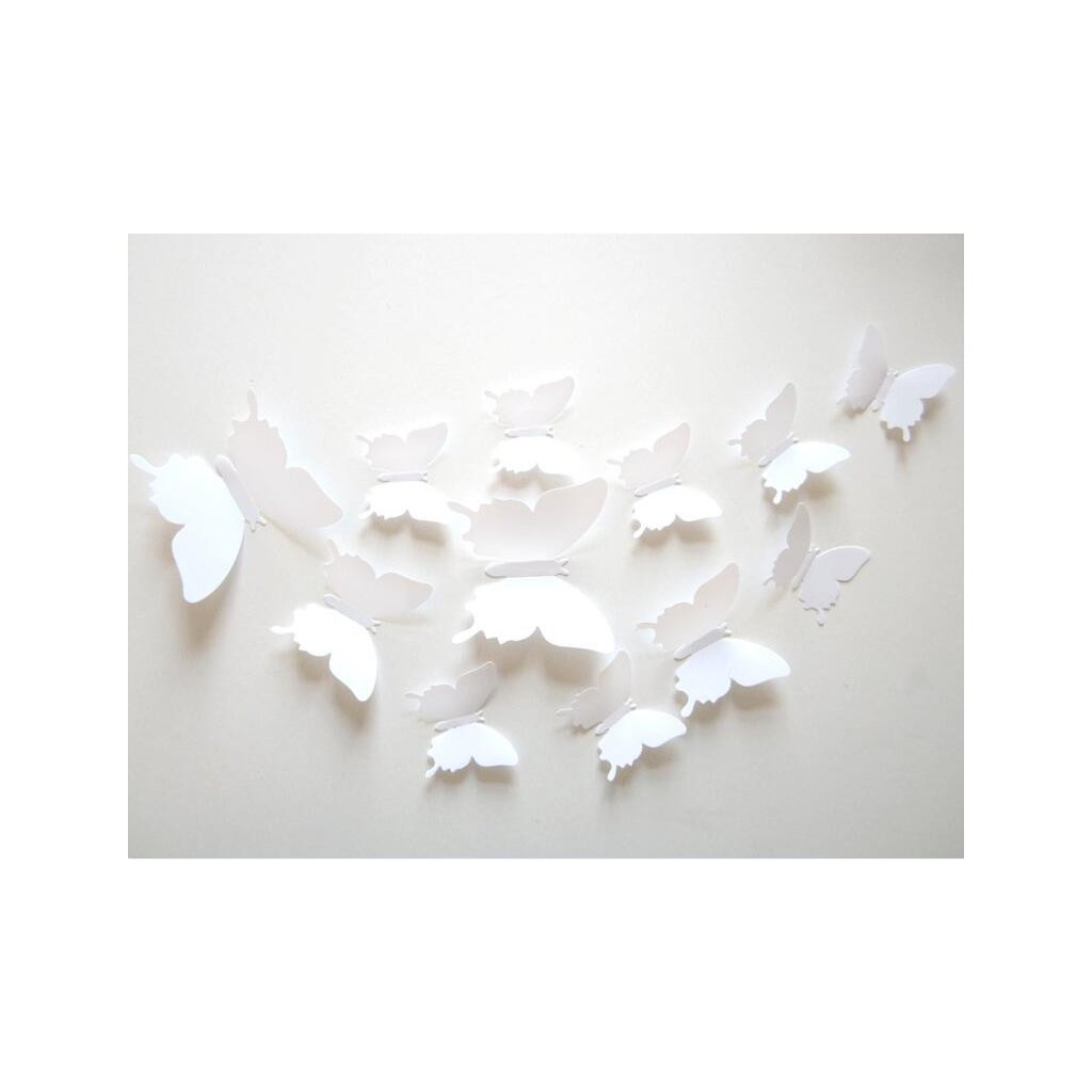samolepiaca tapeta dekoracna samolepka na stenu nalepka motyle plastove biele interierovy dizajn nahlad stylovydomov