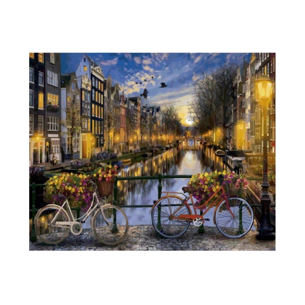 malovanie podla cisiel namaluj si obraz bicykle amsterdam