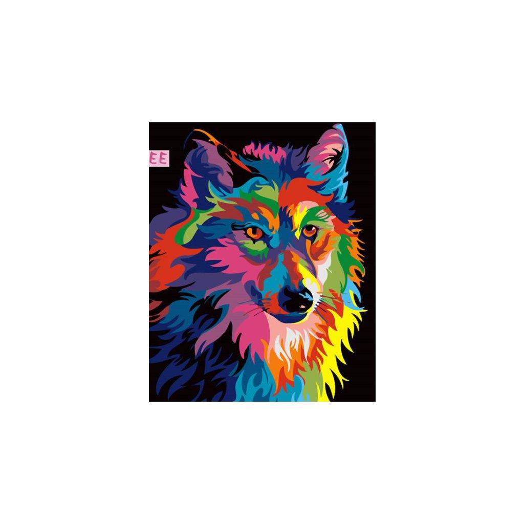 Farebný vlk