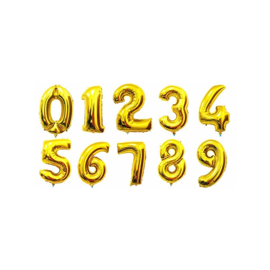 """Arany léggömb szám """"9"""" 76cm"""
