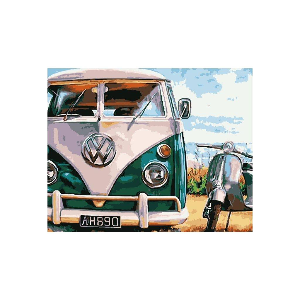 WM 1549 海边复古汽车
