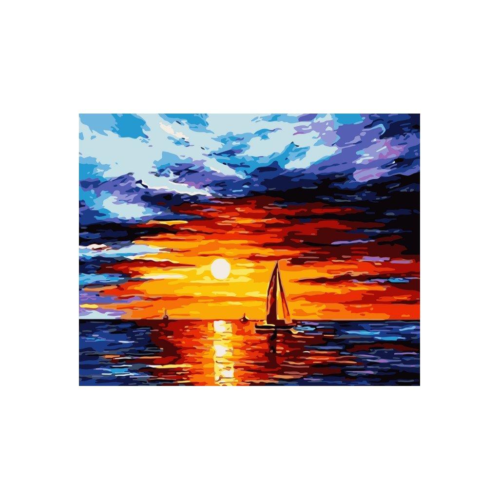 WM 2917 抽象帆船夕阳