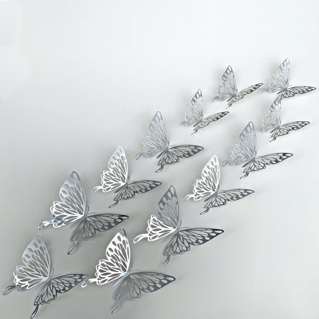 M 029 Metalické Motýle Strieborné 3 kópia