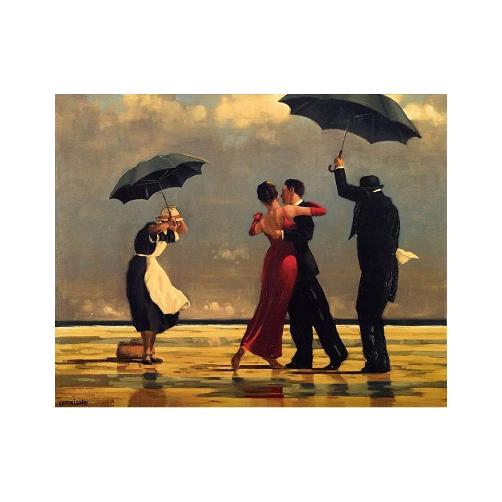 """Festés számok szerint kép kerettel """"Tánc az esőben"""" 40x50 cm"""