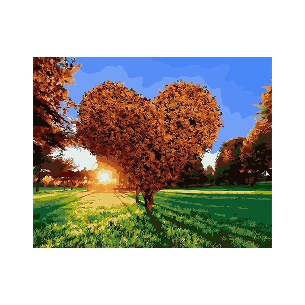 """Festés számok szerint kép kerettel """"Szerelemfa"""" 40x50 cm"""