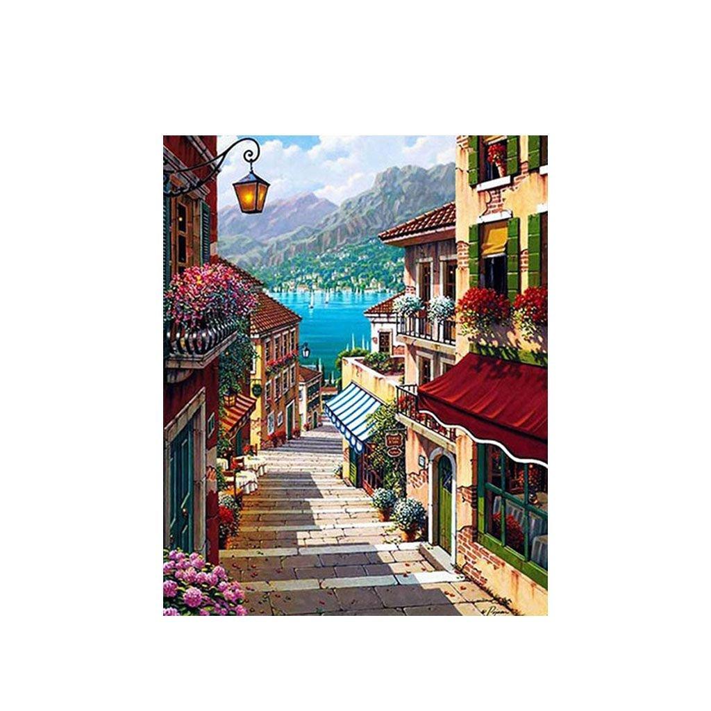 """Festés számok szerint kép kerettel """"Szardínia"""" 40x50 cm"""