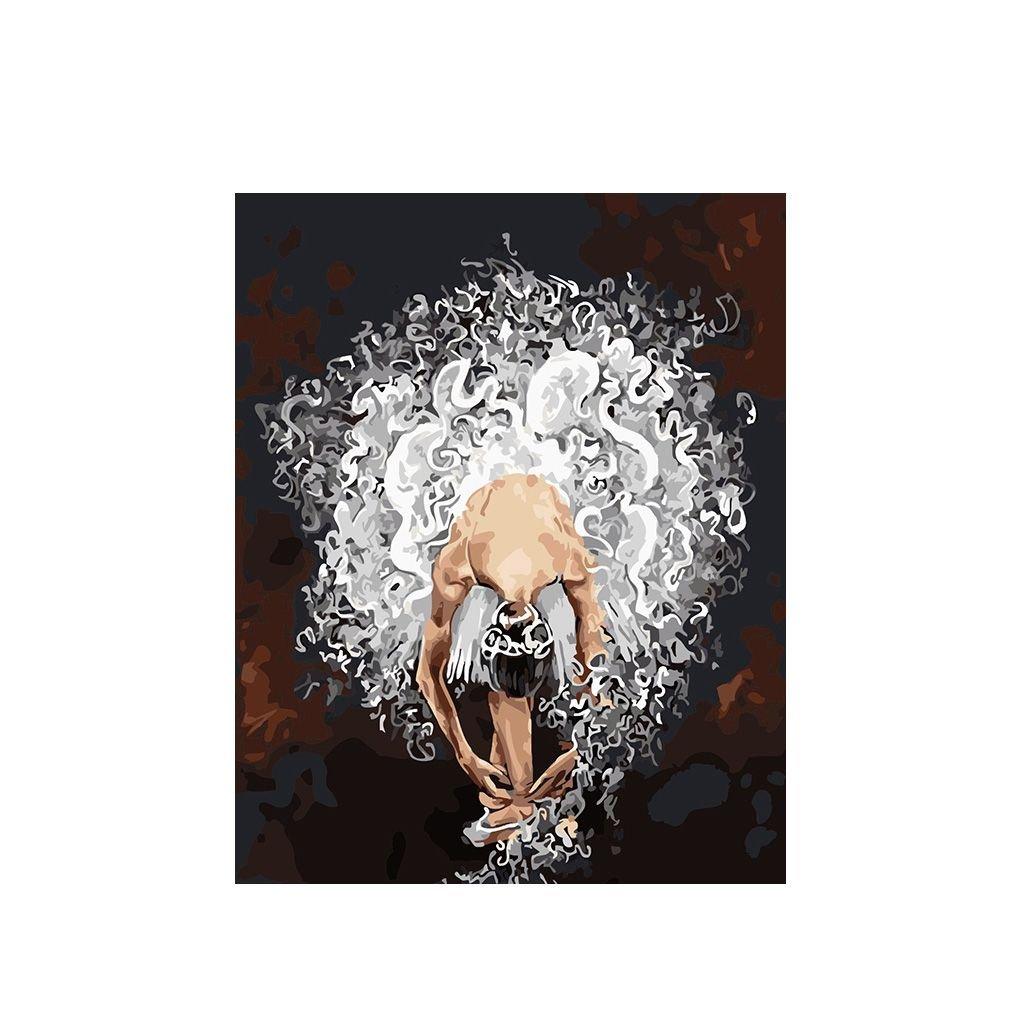 """Festés számok szerint kép kerettel """"Balerina 2"""" 40x50 cm"""