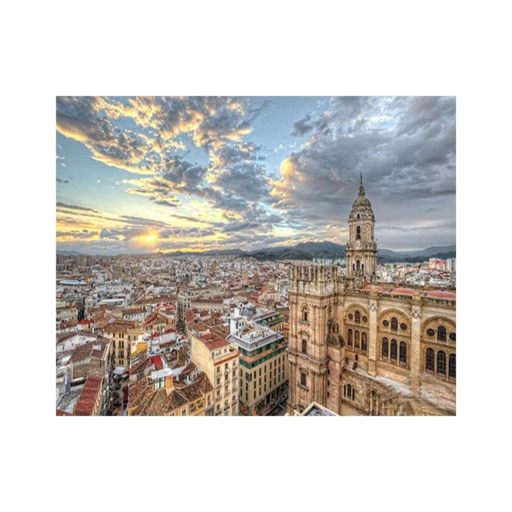 """Festés számok szerint kép kerettel """"Spanyolország"""" 40x50 cm"""