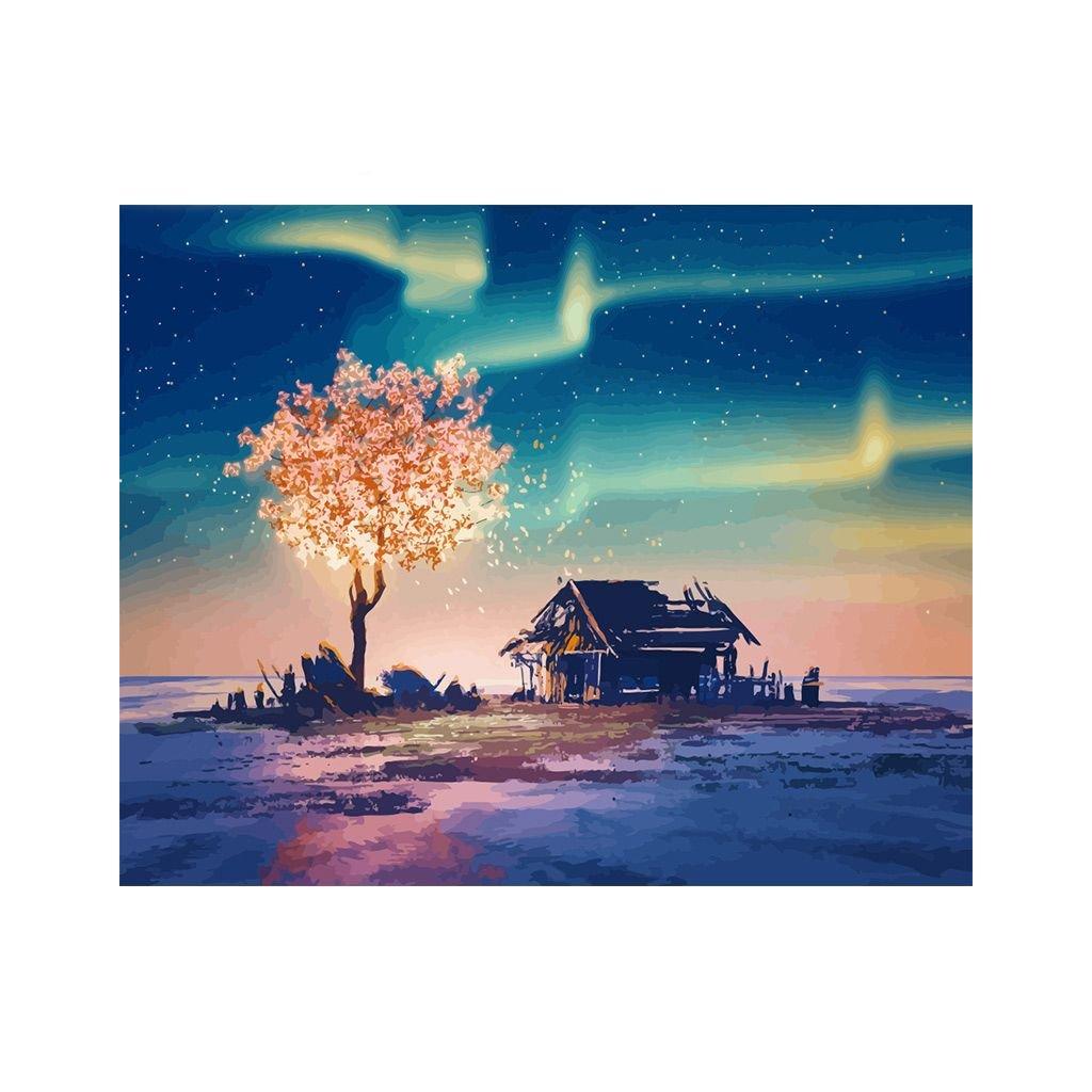 """Festés számok szerint kép kerettel """"Hajnal"""" 40x50 cm"""
