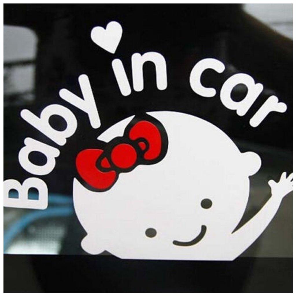 samolepka na auto dieta dievca v aute dekoracna nalepka nahlad stylovydomov