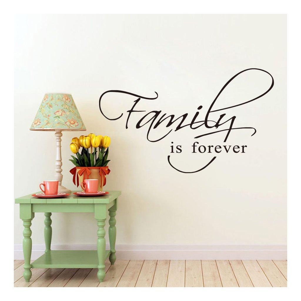samolepiaca tapeta dekoracna samolepka na stenu vinylova nalepka rodina je navzdy dizajn dekoracia vizualizacia stylovydomov