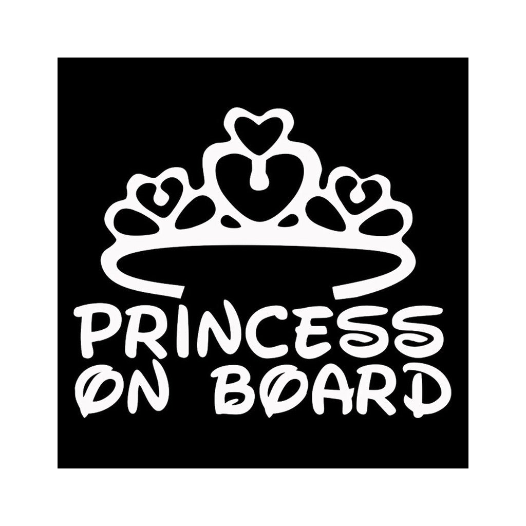 samolepka na auto princezna na palube dekoracna nalepk pre deti biela stylovydomov