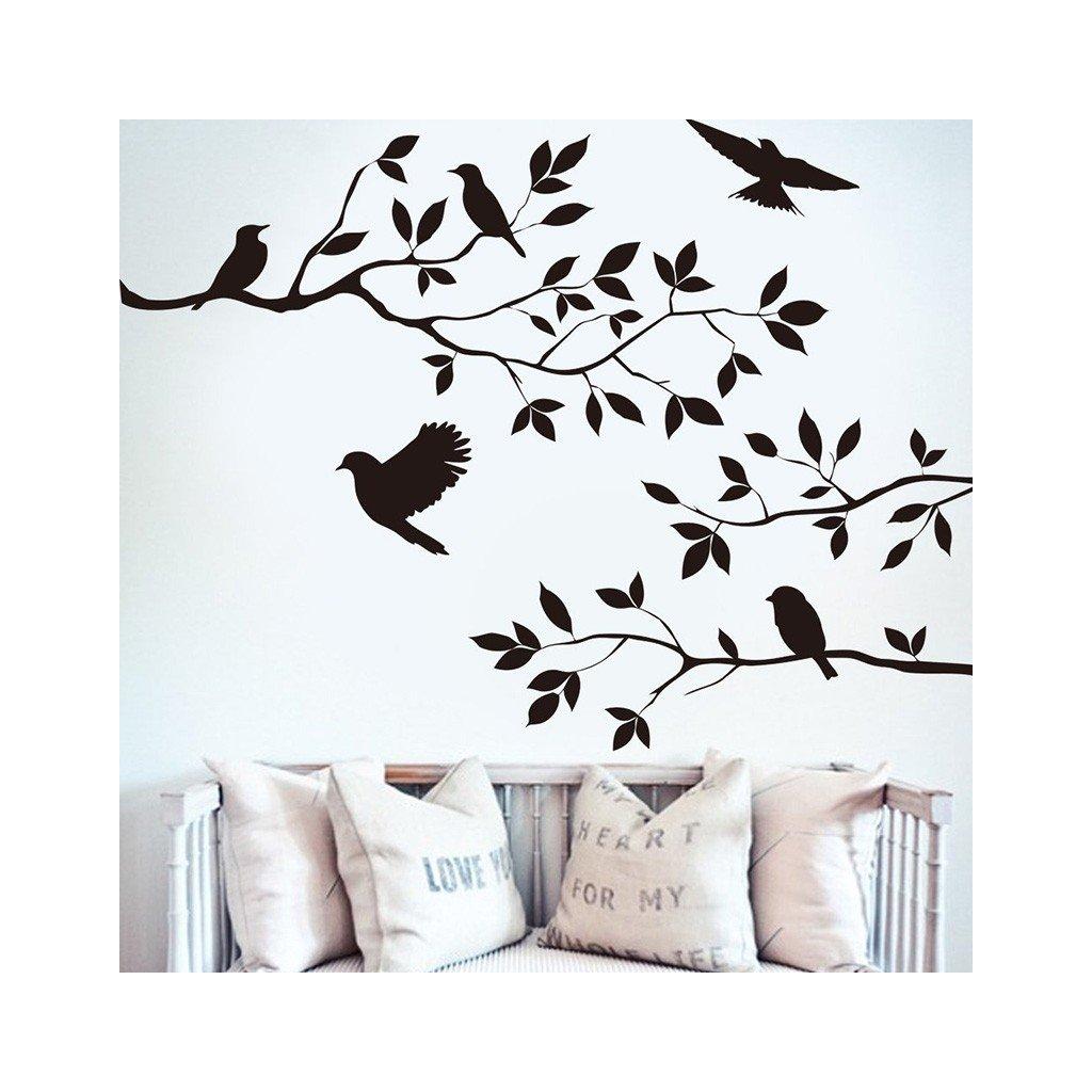 samolepiaca tapeta dekoracna samolepka na stenu nalepka vinyl vtaky styl interierovy dizajn dekoracia nahlad stylovydomov