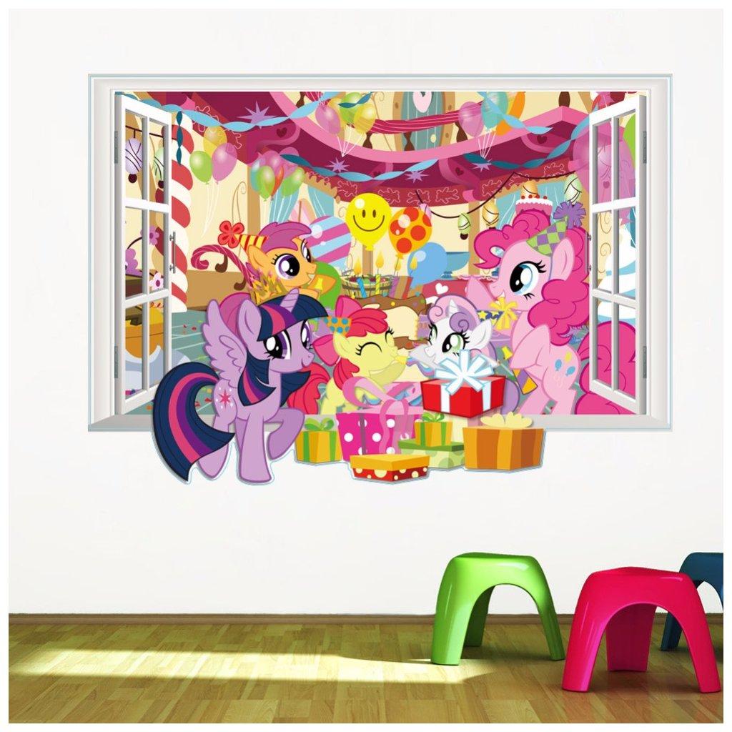 samolepiaca tapeta detska nalepka na stenu samolepka pre deti my little pony dekoracia dizajn interier nahlad stylovydomov