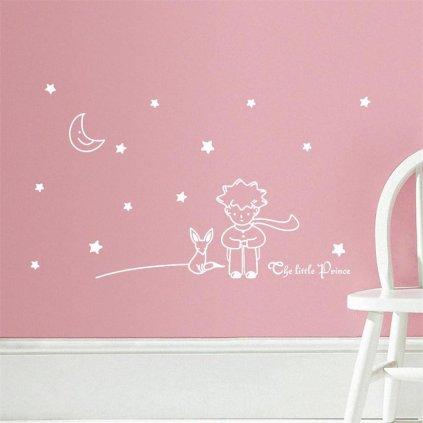 detska samolepka na stenu samolepiaca tapeta dekoracna nalepka pre deti maly brinc biely biela nahlad stylovydomov