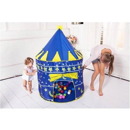detsky stan pre deti domcek farebny modry stylovydomov