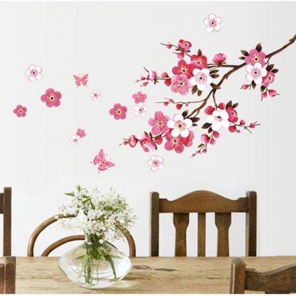 samolepiaca tapeta dekoracna samolepka na stenu nalepka kvitnuca ceresna vizualizacia interierovy dizajn dekoracia stylovydomov