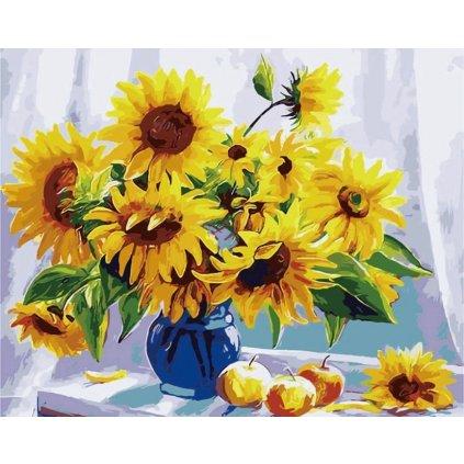 namaluj si obraz malovanie podla cisiel art painting kvety vo vaze stylovydomov
