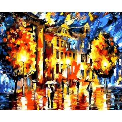 Mesto v daždi