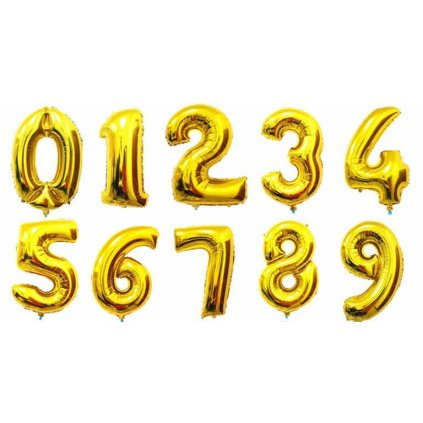 """Arany léggömb szám """"5"""" 76cm"""