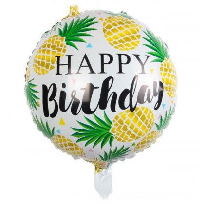"""Kerek léggömb """"Happy Birthday"""" 44cm"""