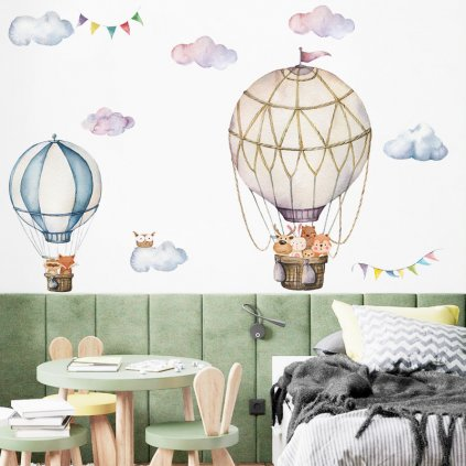 "Falmatrica ""Hőlégballonok állatokkal 3"" 87x90 cm"