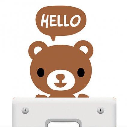 samolepka na vypinac pre deti medvedik detska nalepka stylovydomov dekoracia
