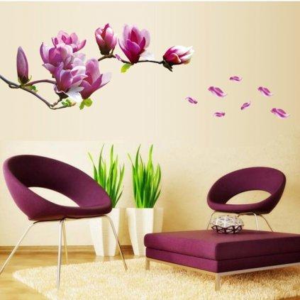 samolepiaca tapeta dekoracna samolepka na stenu nalepka kvet magnolia interierovy dizajn dekoracia nahlad stylovydomov
