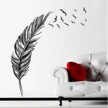 samolepiaca tapeta dekoracna samolepka na stenu nalepka vinyl pierko styl interierovy dizajn dekoracia vizualizacia stylovydomov