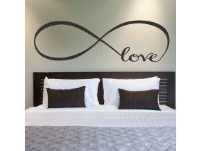 samolepka na stenu dekoracna vinylova nalepka dekoracia love laska infinyty symbol nahlad dizajn stylovydomov