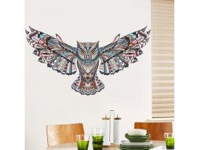 samolepiaca tapeta samolepka na stenu dekoracna nalepka farebna sova interierovy dizajn nahlad stylovydomov