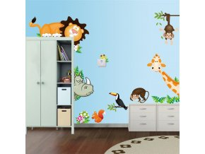 """Falmatrica""""Állatok a dzsungelből"""" 30x90 cm"""