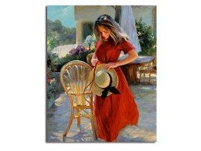 namaluj si obraz zena s klobukom nahlad stylovydomov