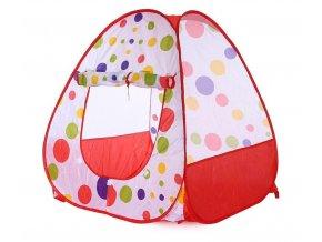 detsky stan pre deti domcek farebny bodkovany cerveny nahlad stylovydomov