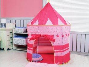 detsky stan pre deti domcek farebny ruzovy nahlad stylovydomov
