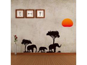 "Falmatrica""Afrikai elefántok"" 37x89 cm"