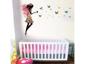 samolepka na stenu dievca detska dekoracna tapeta nalepka stylovydomov pre deti