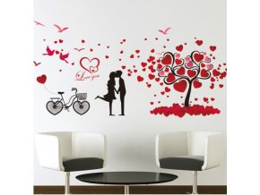 samolepka na stenu zamilovany par laska romanticna nalepka dekoracia stylovydomov