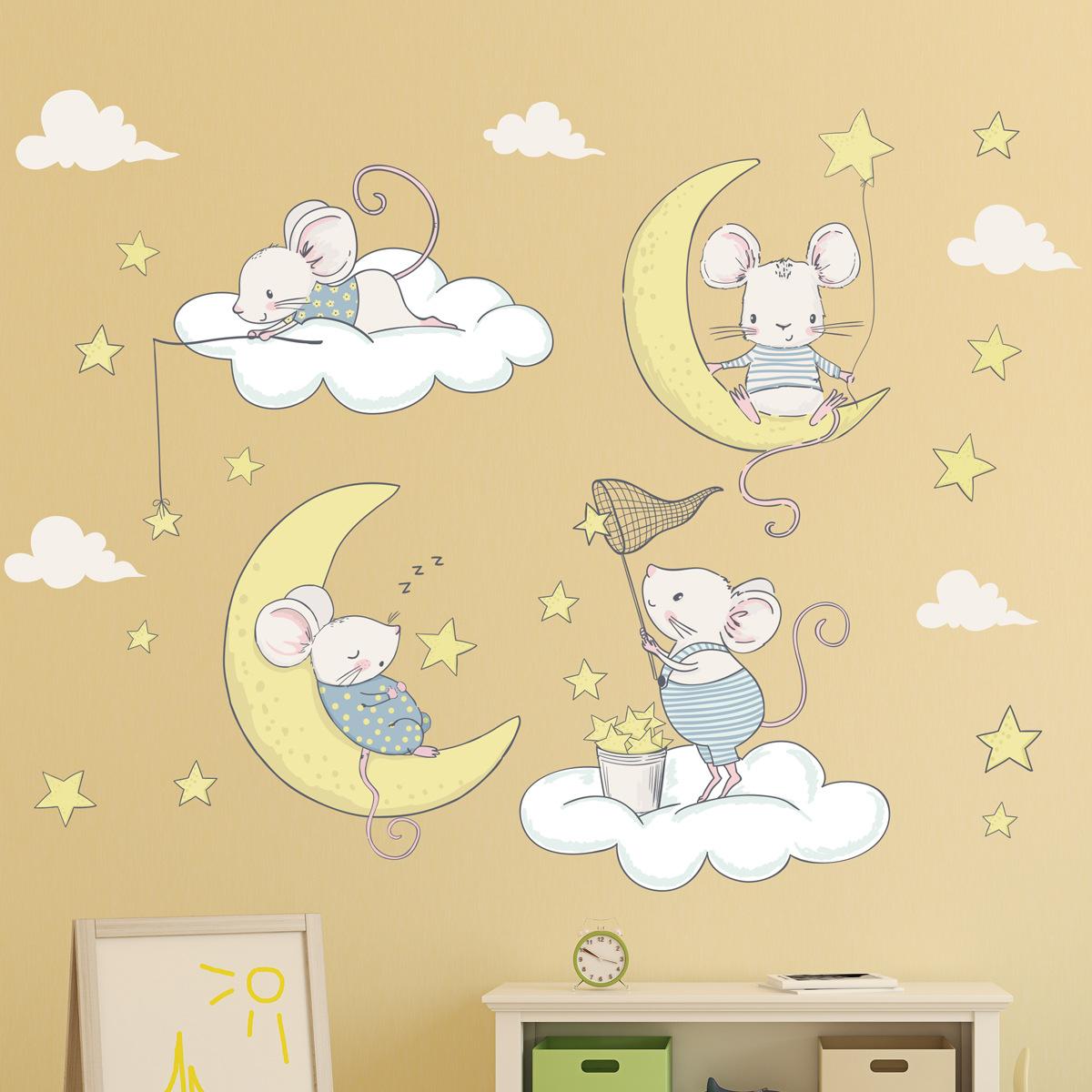 Cum să mobilezi o cameră pentru copii: Autocolante de perete