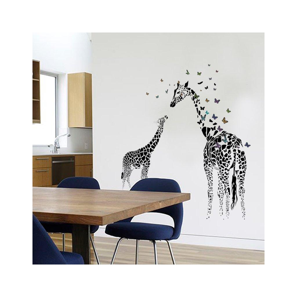 samolepiaca tapeta samolepka na stenu dekoracna nalepka zirafy interierovy dizajn nahlad stylovydomov