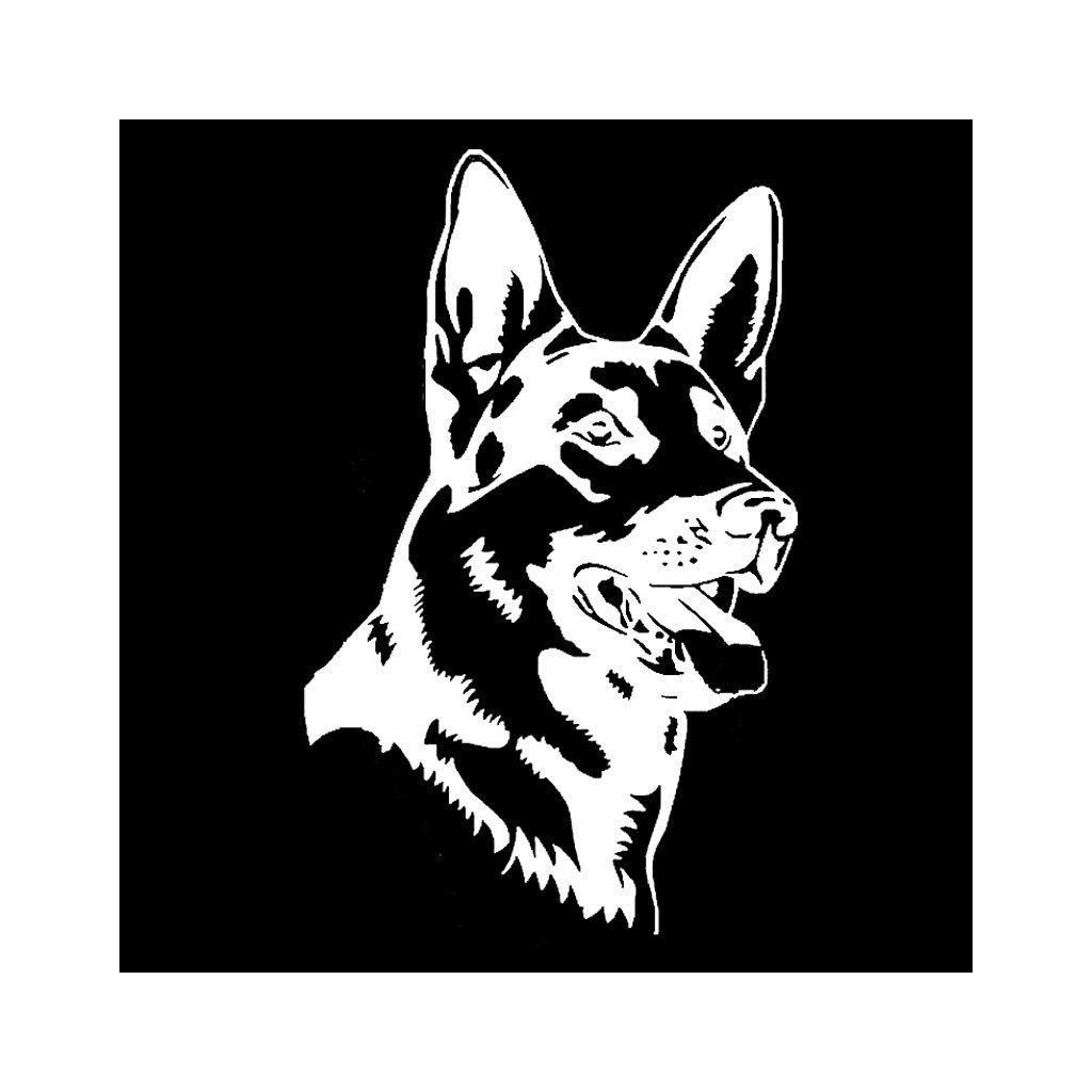 samolepka na auto notebook stenu vypinac dekoracna nalepka pes zviera nemecky ovciak biela nahlad stylovydomov